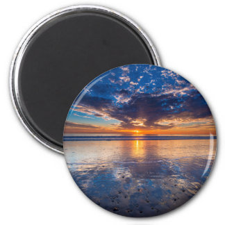 Dramatic seascape, sunset, CA Magnet