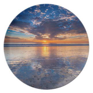 Dramatic seascape, sunset, CA Plates