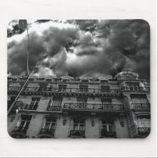 Dramatic sky apartment building mouse pad