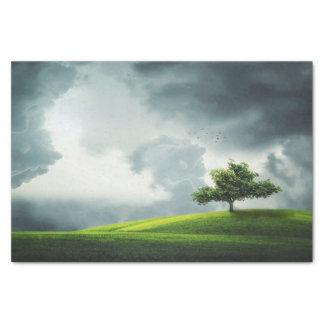Dramatic summer thunderstorm & scenic landscape tissue paper