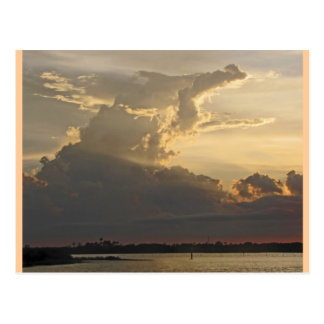 Dramatic Sunset, Clouds, Sky and Water Postcard