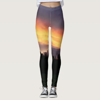 Dramatic sunset leggings