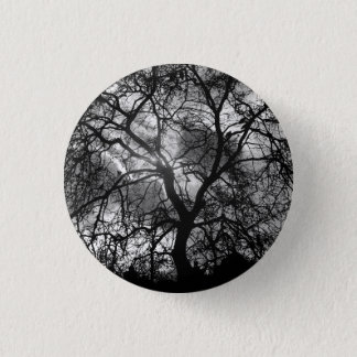 Dramatic Tree Silhouette 1 Inch Round Button