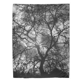 Dramatic Tree Silhouette Duvet Cover