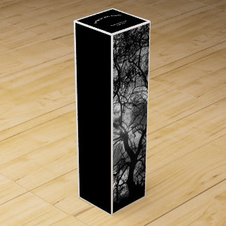 Dramatic Tree Silhouette Earths Natural Bounty Wine Gift Box