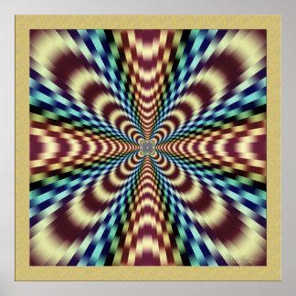 Dramatic Vibrating Optical Illusion Poster