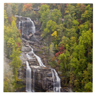 Dramatic Whitewater Falls in autumn in the Tile