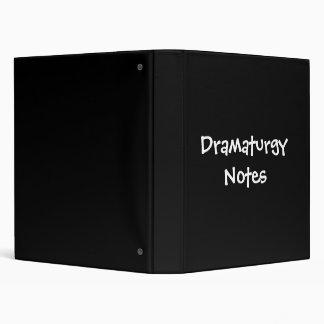 Dramaturgy Notes 3 Ring Binder