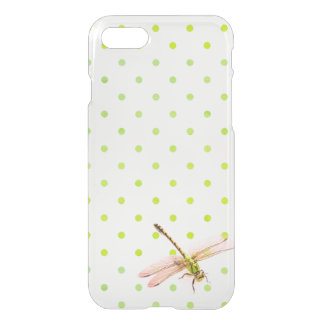 Drangonfly and green polka-dots iPhone 8/7 case