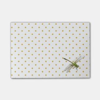 Drangonfly and polka-dots post-it® notes