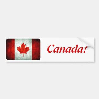 Drapeau affligé du Canada Autocollant De Voiture