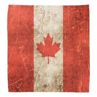 Drapeau âgé et rayé de cru du Canada Foulard