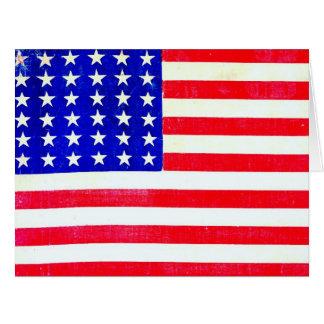 Drapeau américain 1865 de guerre civile carte de vœux