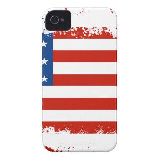 Drapeau américain affligé coques iPhone 4 Case-Mate