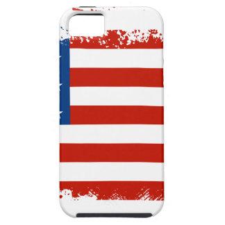 Drapeau américain affligé iPhone 5 case
