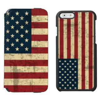Drapeau américain âgé affligé coque-portefeuille iPhone 6 incipio watson™