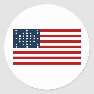 Drapeau américain de guerre civile de Sumter de Autocollant Rond