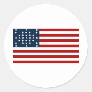 Drapeau américain de guerre civile de Sumter de fo Autocollants