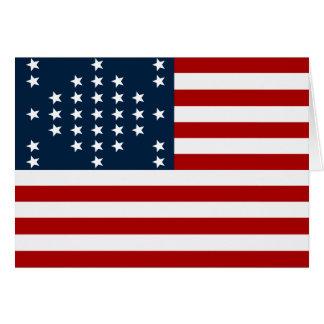 Drapeau américain de guerre civile de Sumter de fo Carte De Vœux