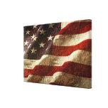 Drapeau américain découpé dans la pierre impression sur toile