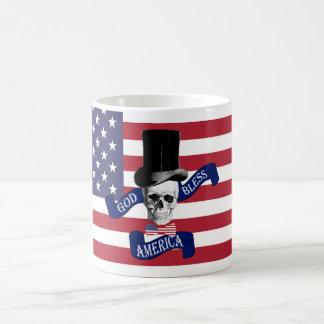 Drapeau américain patriotique mug blanc