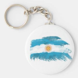Drapeau artistique de l'Argentine - conception per Porte-clé Rond