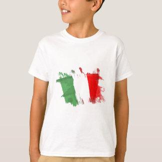 Drapeau artistique de l'Italie - conception T-shirt
