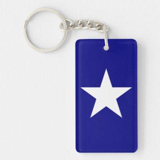 Drapeau bleu mignon avec le porte - clé blanc porte-clés