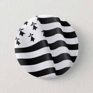 Drapeau breton (Breton flag) 2 Inch Round Button