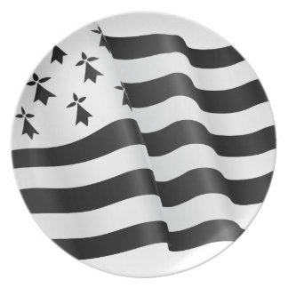 Drapeau breton (Breton flag) Plate