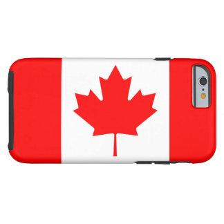 Drapeau canadien de feuille d'érable rouge du coque iPhone 6 tough