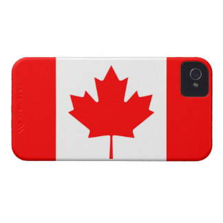 Drapeau canadien de feuille d'érable rouge du étuis iPhone 4