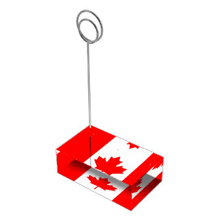 Drapeau canadien de porte-cartes de feuille porte-cartes de  table