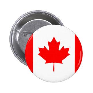 Drapeau canadien macaron rond 5 cm