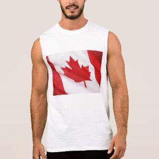 Drapeau canadien t-shirt sans manches