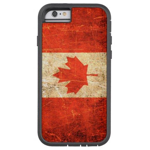 Drapeau canadien vintage rayé et porté coque iPhone 6 tough xtreme