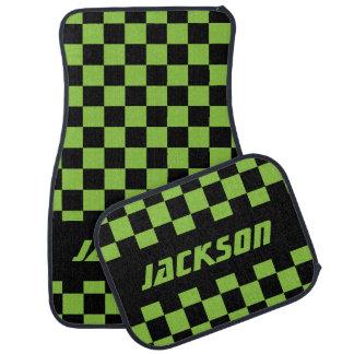 Drapeau Checkered Pattern|Black de voiture de Tapis De Sol
