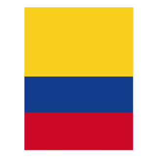 Drapeau colombien carte postale