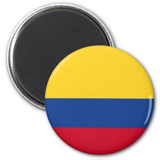 Drapeau colombien magnet rond 8 cm