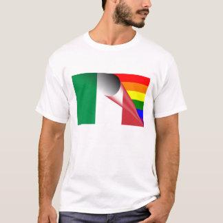 Drapeau d'arc-en-ciel de gay pride de l'Italie T-shirt
