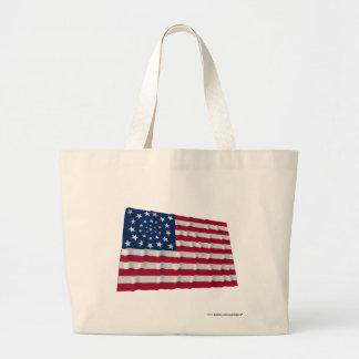 drapeau de 34 étoiles, motif de guirlande, annexes sacs en toile