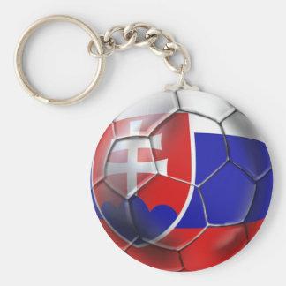Drapeau de ballon de football de la Slovaquie des Porte-clé