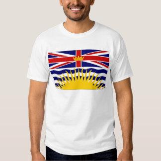 Drapeau de Colombie-Britannique du Canada Tshirts