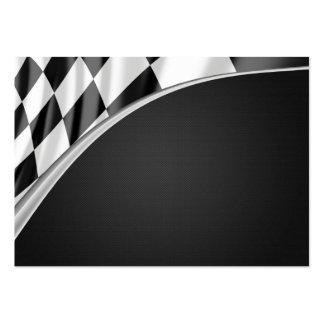 Drapeau de courbe de chrome carte de visite grand format