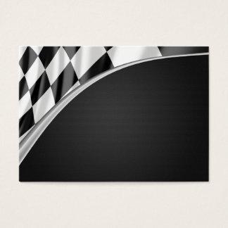 Drapeau de courbe de chrome cartes de visite