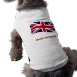 Drapeau de cric des syndicats fait dans le tee - s vêtement pour chien