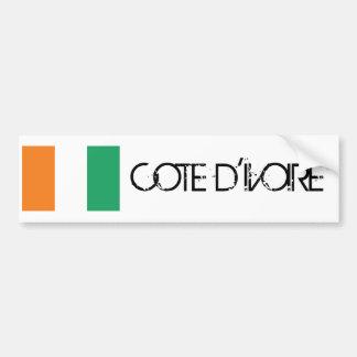 Drapeau de d'Ivoire de Cote Autocollant De Voiture