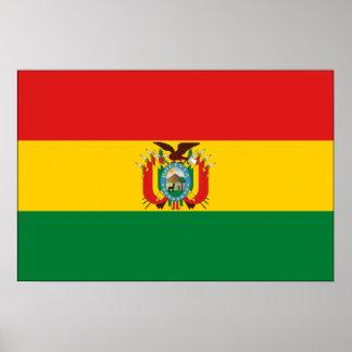 Drapeau de la Bolivie Poster