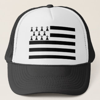 Drapeau de la Bretagne Breizh Gwenn ha Du Britanny Trucker Hat