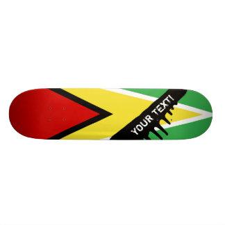 Drapeau de la Guyane Mini Skateboard 18,4 Cm
